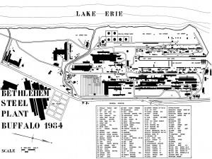 Map Lackawanna Steel Mill
