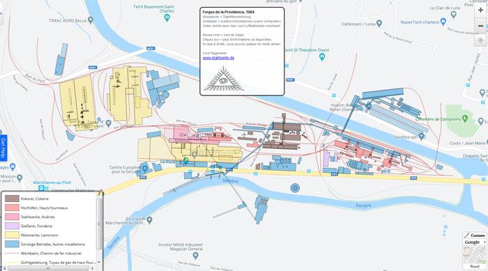 Plan de Forges de La Providence, Marchienne